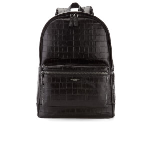 Michael Kors Men's Bryant Embossed Croc Backpack - Black