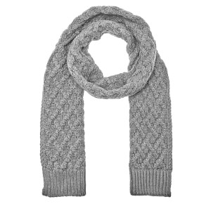 Michael Kors Men's Cable Knit Scarf - Heather Grey
