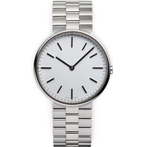 Uniform Wares Men's M37 Polished Steel Brushed Lined Bracelet Wristwatch - Silver