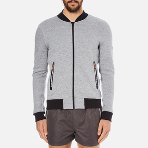 Superdry Men's Gym Tech Bomber Jacket - Grey Grit