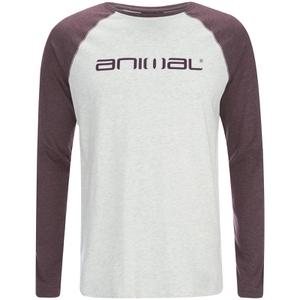 Animal Men's Action Raglan Long Sleeve Top - Light Grey Marl