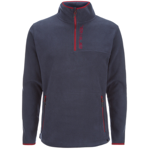 Animal Men's Prudhoes 1/2 Zip Fleece Jumper - Total Eclipse Navy