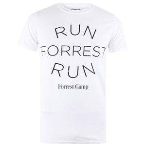 Forrest Gump Mens Run Forrest T-Shirt - Wit