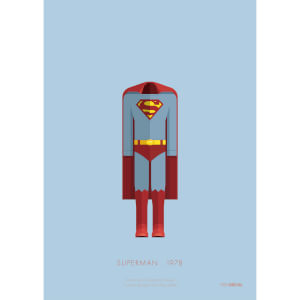 Superman Costume Art Print - 14 x 11 from I Want One Of Those