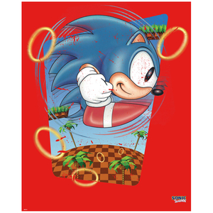 Sonic the Hedgehog 'Rings' Art Print - 14 x 11