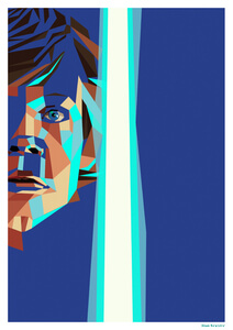 Affiche Géométrique Star Wars Luke Skywalker -Fine Art