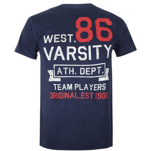 Varsity Team Players Men's West 86 T-Shirt - Navy