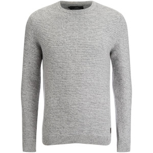 Threadbare Men's Darkwell Gradient Jumper - Grey/Ecru