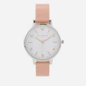 Olivia Burton Women's Modern Vintage Big Dial Watch - Dusty Pink/Silver/Rose Gold Mix