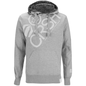 Crosshatch Men's Flashpoint Borg Lined Pull On Hoody - Estate Grey Marl