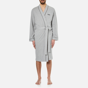 BOSS Hugo Boss Men's Kimono Dressing Gown - Medium Grey