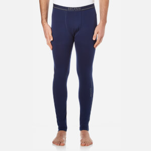 BOSS Hugo Boss Men's 24 Logo Long Johns - Blue