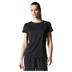 adidas Women's Sequencials Climalite Running T-Shirt - Black