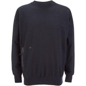 adidas Men's Denim Training Crew Sweatshirt - Blue
