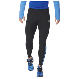 adidas Men's Response Long Running Tights - Black/Blue