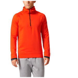 adidas Men's Climaheat Half Zip Training Hoody - Orange