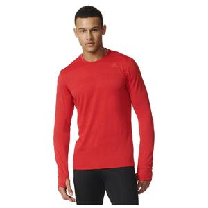 adidas Men's Supernova Long Sleeve Running T-Shirt - Red