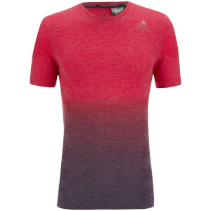 adidas Men's Primeknit Wool Dip-Dyed Running T-Shirt - Red/Blue