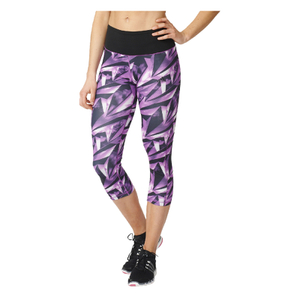 adidas Women's High-Rise 3/4 Workout Training Tights - Purple