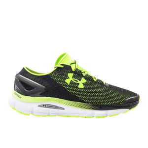 Under Armour Men's SpeedForm Gemini 2.1 Running Shoes - Black/White/Green