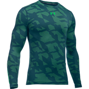 Under Armour Men's ColdGear Jacquard Crew Long Sleeve Shirt - Nova Teal