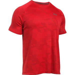 Under Armour Men's Jacquard Tech Short Sleeve T-Shirt - Red