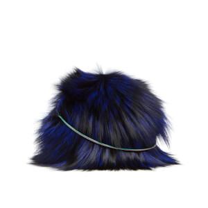 Diane von Furstenberg Women's Love Power Tipped Fox Puff Mini Bag - Cobalt
