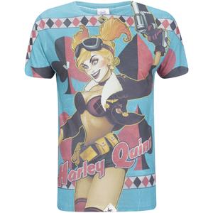 DC Comics Bombshell Harley Quinn Heren T-Shirt -Blauw