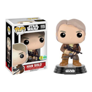 Star Wars Han Solo Chewie Bowcaster Bobble-head Pop! Vinyl Figure SDCC 2016 Exclusive