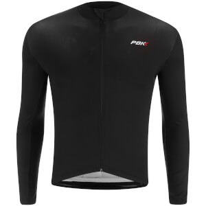 PBK Stelvio Water Repellent Long Sleeve Jersey - Black