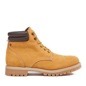 Jack & Jones Men's Stoke Nubuck Worker Boots - Honey