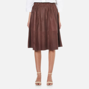 Selected Femme Women's Salta Leather Skirt - Fudge