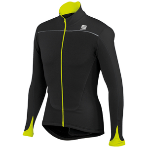 Sportful Force Thermal Long Sleeve Jersey - Black/Yellow