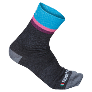 Sportful Women's Wool 14 Socks - Grey/Turquoise