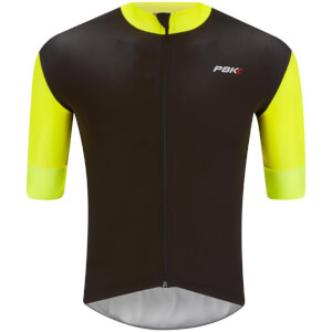 PBK Stelvio Water Repellent Short Sleeve Jersey - Fluro