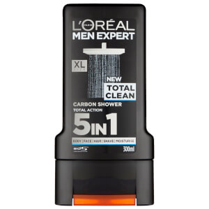 Gel Douche Carbone Total Clean L'Oréal Paris Men Expert 300 ml