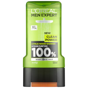 Gel de ducha Clean Power de L'Oréal Paris Men Expert 300 ml