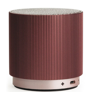 Lexon Fine Rechargeable Bluetooth Speaker - Burgundy