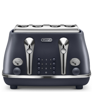 De'Longhi Elements Four Slice Toaster - Blue