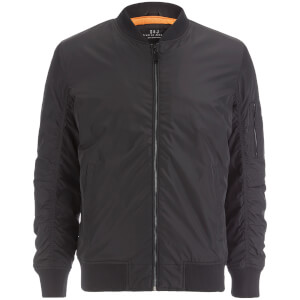 Smith & Jones Men's Mausoleum Zip Bomber Jacket - Black