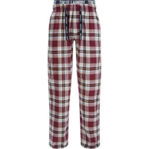 Tokyo Laundry Men's Clissold Poplin Check Lounge Pants - Oxblood