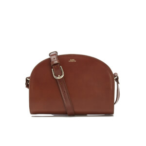 A.P.C. Women's Demi-Lune Cross Body Bag - Nut Brown
