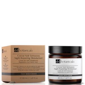 Crema de noche reparadora de cacao negro suntuoso de Dr Botanicals 50 ml
