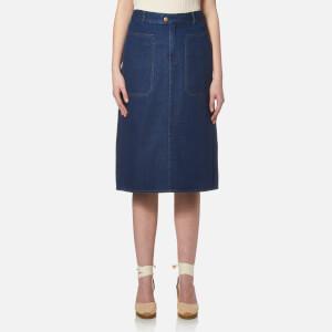 A.P.C. Women's Nevada Skirt - Indigo
