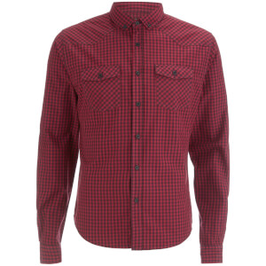 Smith & Jones Men's Porticus Check Shirt - Cordovan Red