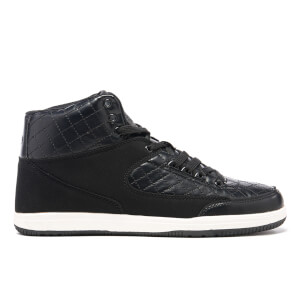 Crosshatch Herren Vonleh High Top Trainers - Black