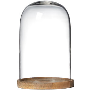Nkuku Recycled Inu Decorative Medium Glass Dome