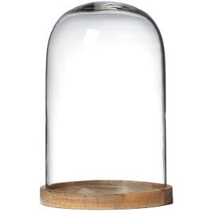 Nkuku Recycled Inu Decorative Medium Glass Dome