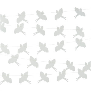 Nkuku Bird Paper Bunting - Cream