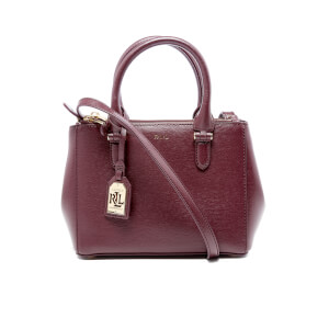 Lauren Ralph Lauren Women's Newbury Mini Double Zip Satchel Bag - Claret